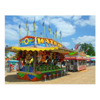 Games at Lincoln County Carnival Fair postcard