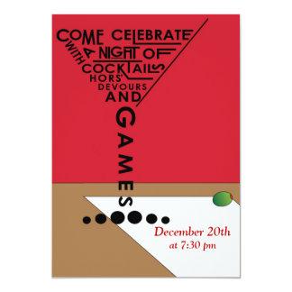 Games & Cocktails Custom Invitations