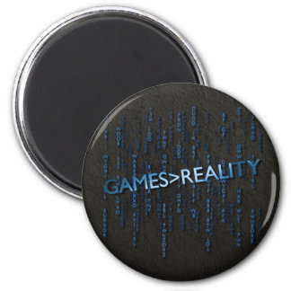 Games Greater Than Reality 2 Inch Round Magnet