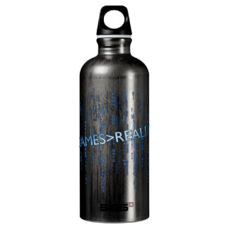 Games Greater Than Reality Aluminum Water Bottle