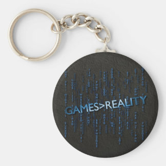 Games Greater Than Reality Basic Round Button Keychain