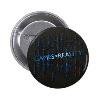 Games Greater Than Reality Pinback Button