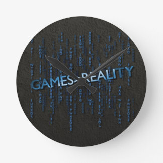 Games Greater Than Reality Round Wall Clock