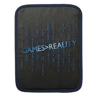 Games Greater Than Reality iPad Sleeve