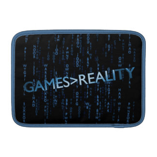 Games Greater Than Reality MacBook Sleeve