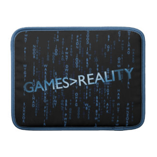 Games Greater Than Reality MacBook Air Sleeves