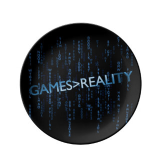 Games Greater Than Reality Porcelain Plates