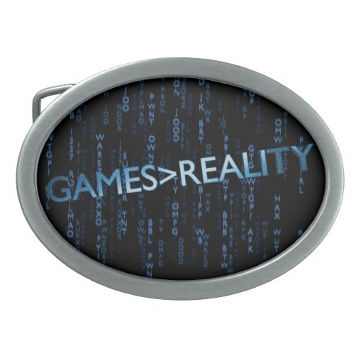 Games Greater Than Reality Oval Belt Buckle