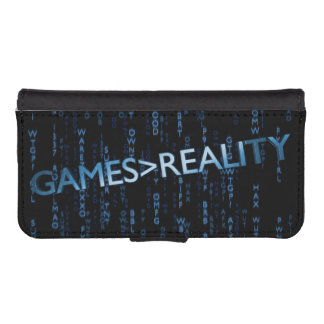 Games Greater Than Reality Phone Wallet
