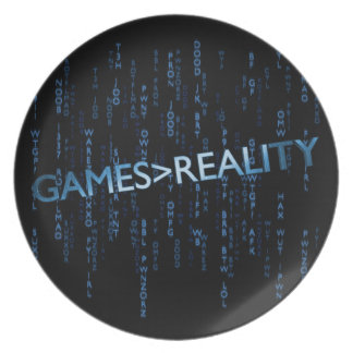 Games Greater Than Reality Dinner Plate