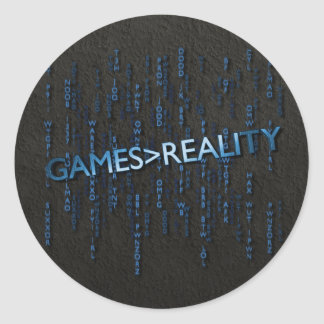 Games Greater Than Reality Classic Round Sticker