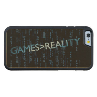 Games Greater Than Reality Carved® Maple iPhone 6 Bumper