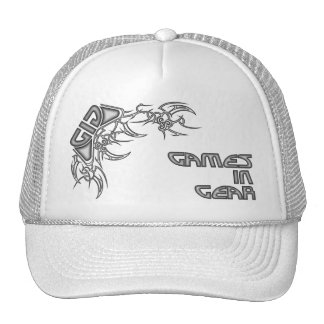 Games In Gear Tribal hat design - Silver