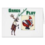 Games Reindeer Play Card