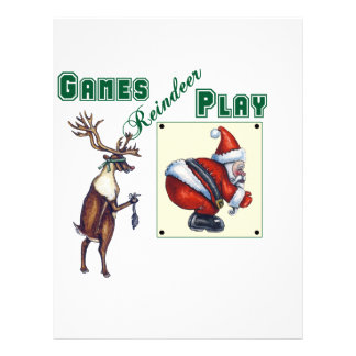 Games Reindeer Play Letterhead