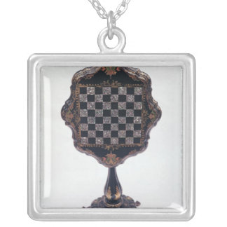 Games table, c.1850-60 silver plated necklace