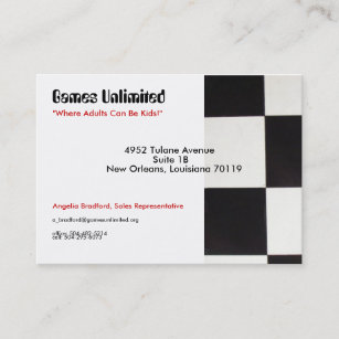 Unlimited business cards zazzle games unlimited chubby 35 x 25card sample business reheart Gallery