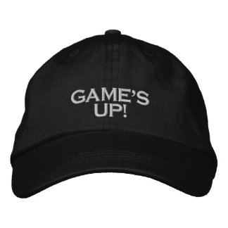 """""""GAME'S UP!"""", PC GAME PLAYER CAP EMBROIDERED HAT"""