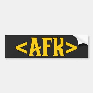 Gaming - AFK/ Away From Keyboard Bumper Sticker