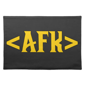 Gaming - AFK/ Away From Keyboard Cloth Placemat
