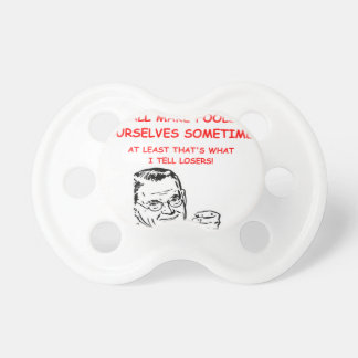 gaming and sports joke BooginHead pacifier