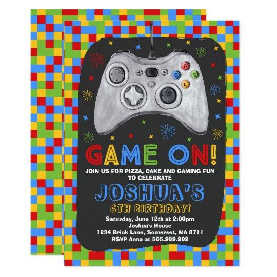 Gaming birthday invitation video game birthday zazzle gaming birthday invitation video game birthday stopboris Image collections