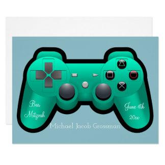 Gaming, Controller, Bar Mitzvah, Invitation