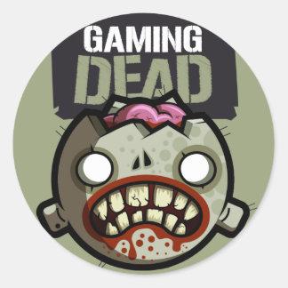 Gaming Dead Stickaz Round Stickers