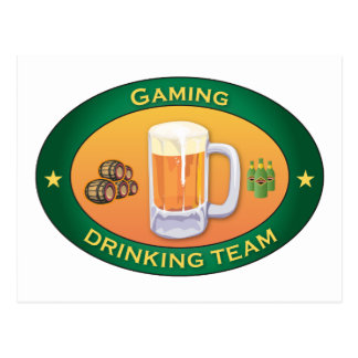 Gaming Drinking Team Post Cards