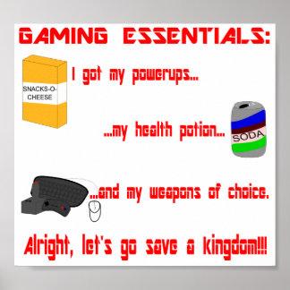 Gaming Essentials Poster