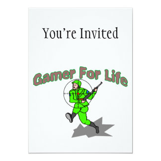 Gaming For Life FPS 5x7 Paper Invitation Card