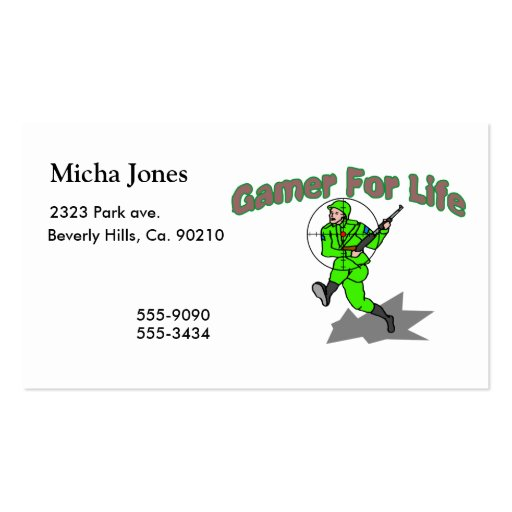 Gaming For Life FPS Double-Sided Standard Business Cards (Pack Of 100)