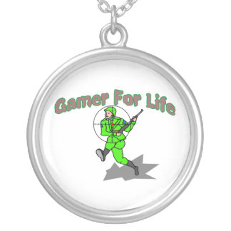 Gaming For Life FPS Silver Plated Necklace