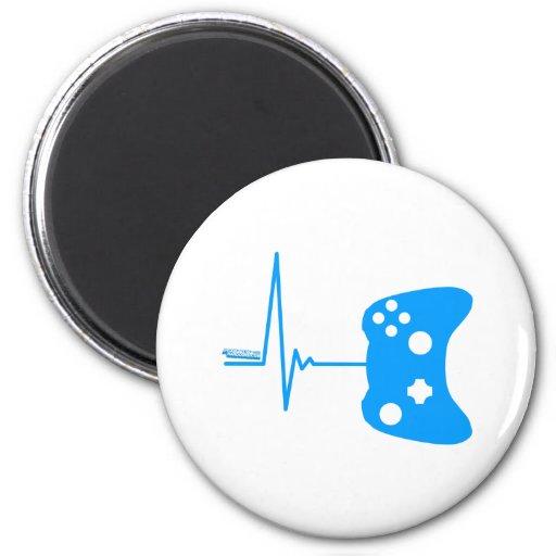 Gaming Heart Beat - gamer video games geek pad 2 Inch Round Magnet