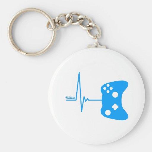 Gaming Heart Beat - gamer video games geek pad Key Chains