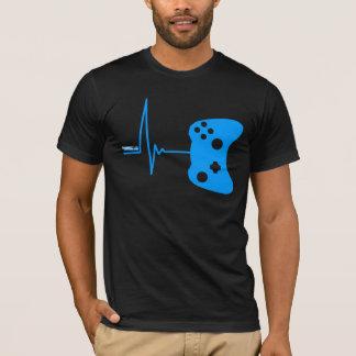Gaming Heart Beat - gamer video games geek pad T-Shirt