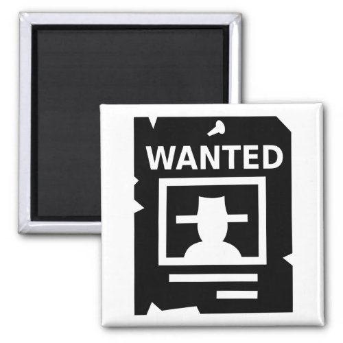 Gaming Icons Wanted Poster Magnet
