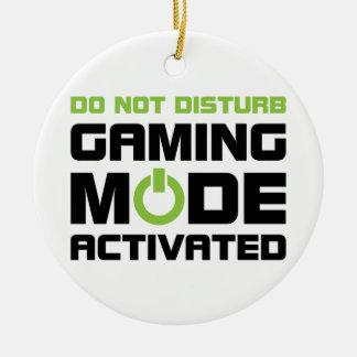Gaming Mode Ceramic Ornament