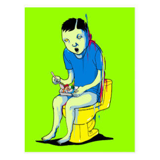 Gaming on the Toilet Postcard