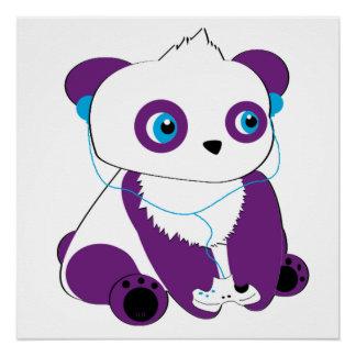 Gaming Panda Poster