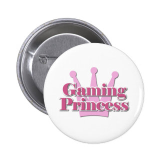Gaming Princess Pinback Button