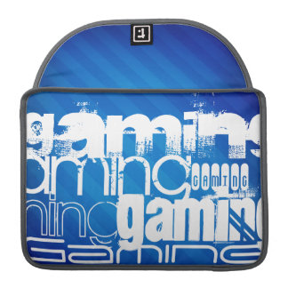 Gaming; Royal Blue Stripes Sleeves For MacBooks