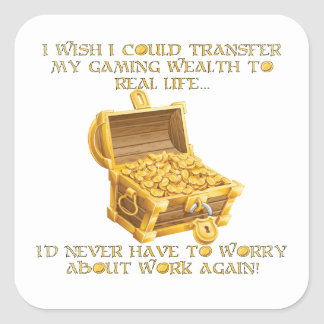 Gaming wealth square sticker