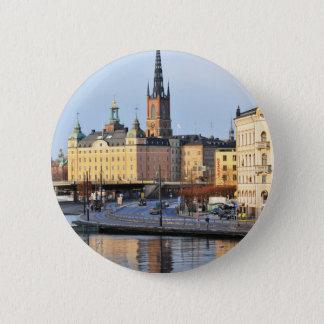Gamla Stan in Stockholm, Sweden Button