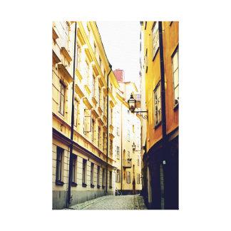 Gamla Stan - la ciudad vieja Estocolmo Suecia Impresiones En Lona