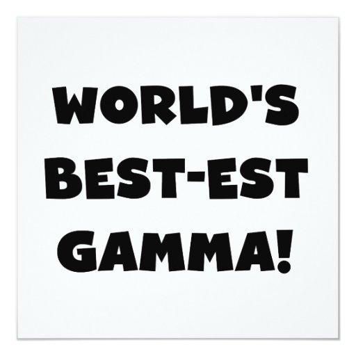 Gamma del Mejor-est del mundo blanco y negro Invitación 13,3 Cm X 13,3cm