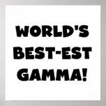 Gamma del Mejor-est del mundo blanco y negro Posters