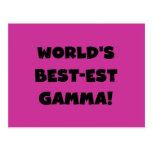 Gamma del Mejor-est del mundo blanco y negro Postal