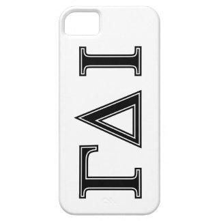 Gamma Delta Iota (Black Letters) iPhone SE/5/5s Case