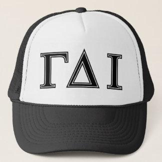 Gamma Delta Iota (Black Letters) Trucker Hat